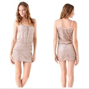 Rebecca Taylor Sequined Cami Dress Gold